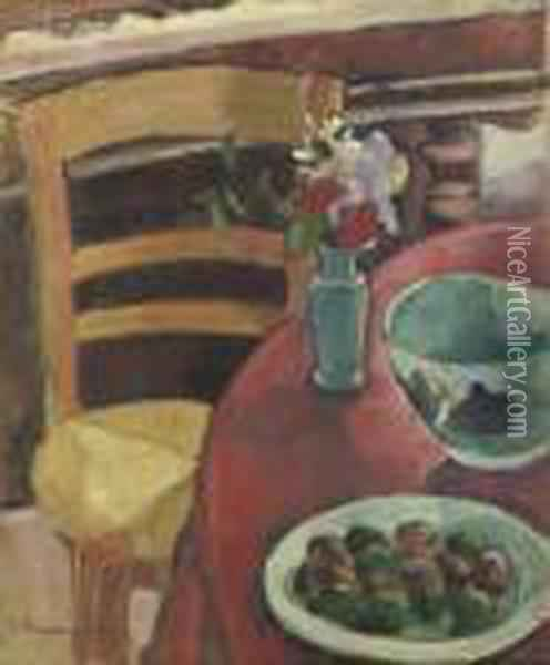 Nature Morte Oil Painting - Emile Bernard