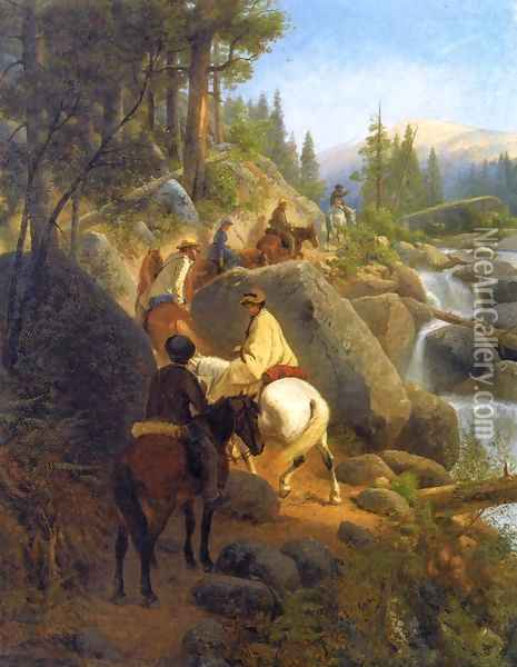 The Trip to Glacier Point Oil Painting - William Hahn