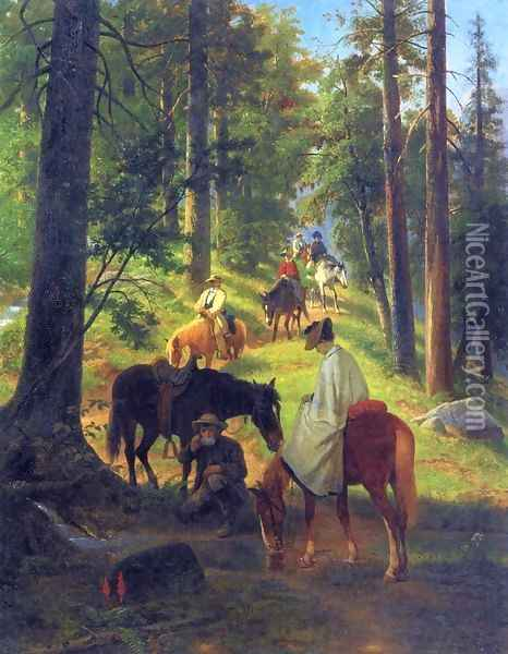 The Return from Glacier Point Oil Painting - William Hahn