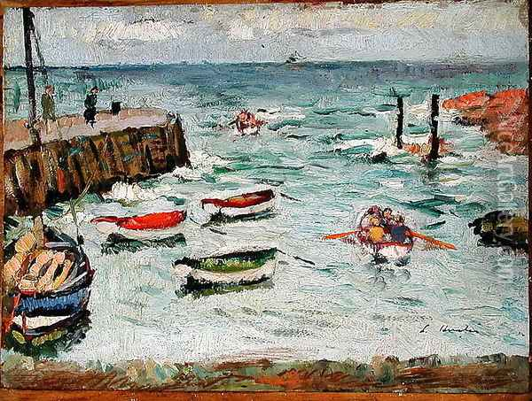 A Summer Day Largo Oil Painting - George Leslie Hunter