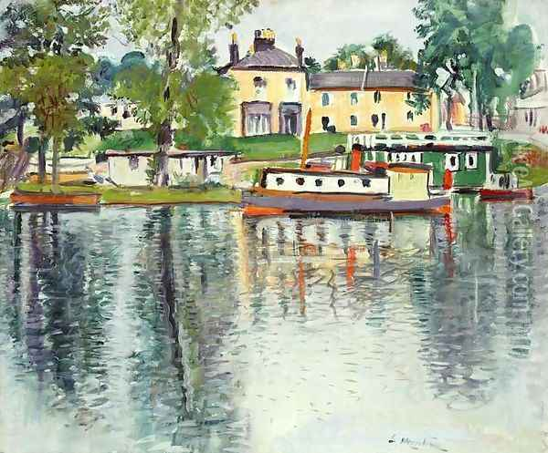 Reflections Balloch Oil Painting - George Leslie Hunter