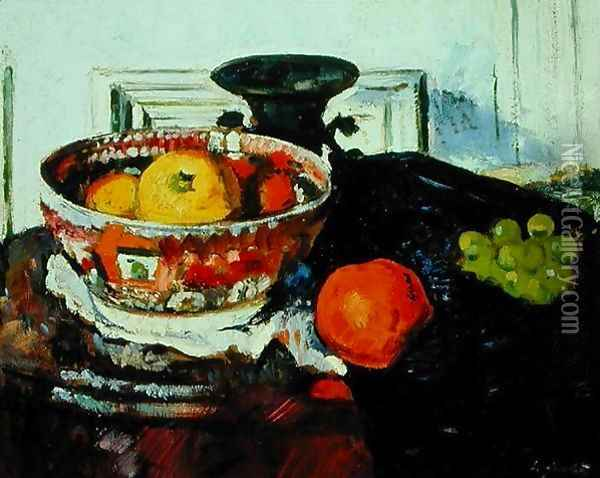 Still Life Chinese Bowl Oil Painting - George Leslie Hunter