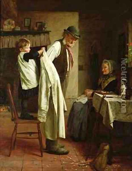 A Helping Hand Oil Painting - James Hayllar