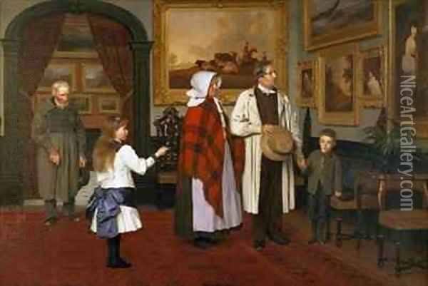 The Picture Gallery at the Hall Oil Painting - James Hayllar