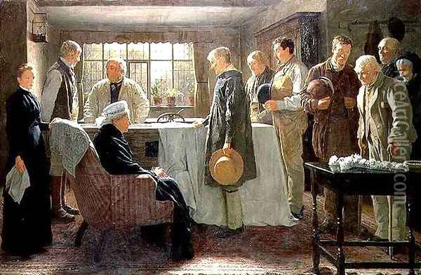 The Old Master Oil Painting - James Hayllar