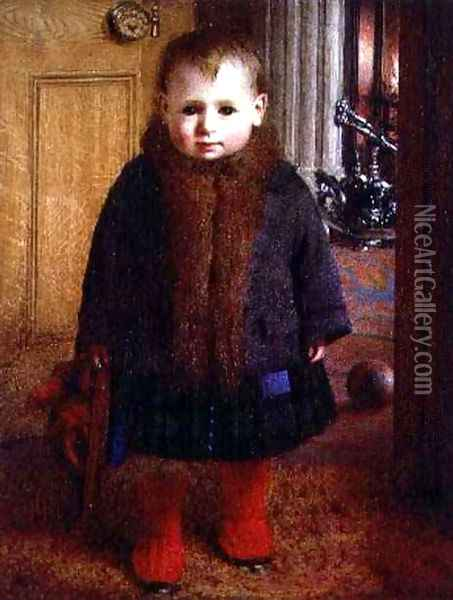 Waiting to go out Oil Painting - James Hayllar