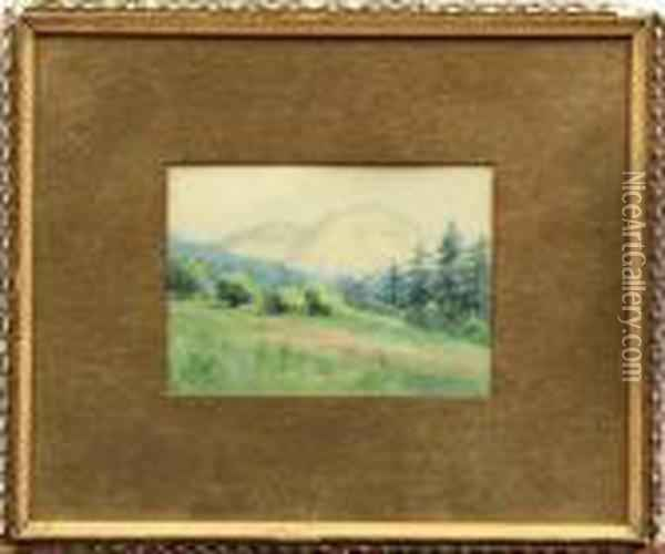 Distant Mountains Oil Painting - Albert Bierstadt
