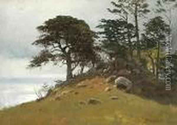 Cypress Point, Monterey Oil Painting - Albert Bierstadt