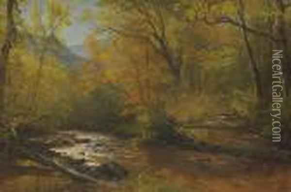 Brook In Woods Oil Painting - Albert Bierstadt
