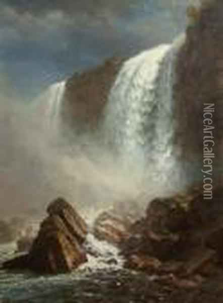 American Falls At Niagara Oil Painting - Albert Bierstadt