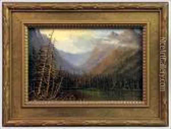 Mountain Lake Oil Painting - Albert Bierstadt