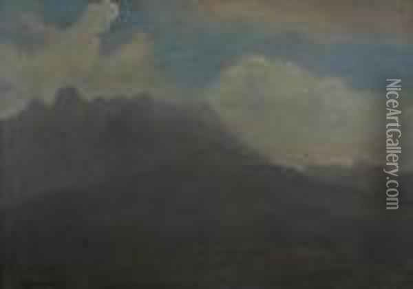 Mountains And Foothills Oil Painting - Albert Bierstadt