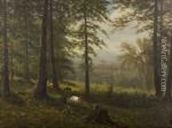 View To A Clearing Oil Painting - Albert Bierstadt