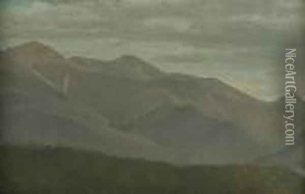 New Hampshire Mountains Oil Painting - Albert Bierstadt