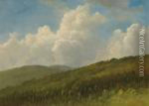 Summer In The Hills Oil Painting - Albert Bierstadt