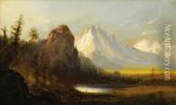 Cathedral Rock Oil Painting - Albert Bierstadt
