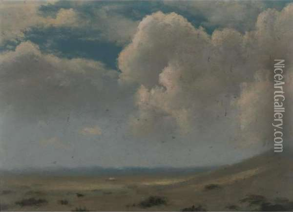 Dunes And Clouds Oil Painting - Albert Bierstadt