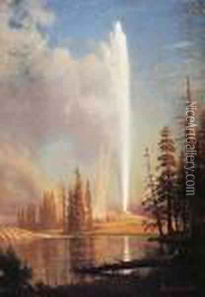 Old Faithful Oil Painting - Albert Bierstadt