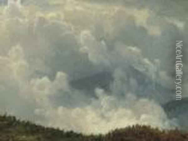 Mountain Mist Oil Painting - Albert Bierstadt