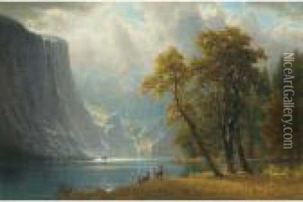 Yosemite Oil Painting - Albert Bierstadt