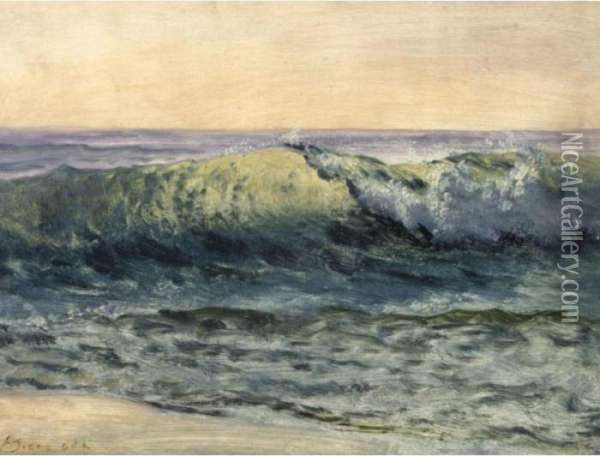 The Wave Oil Painting - Albert Bierstadt