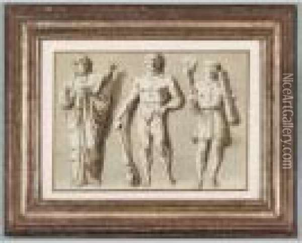 Etudes De Trois Figures Antiques