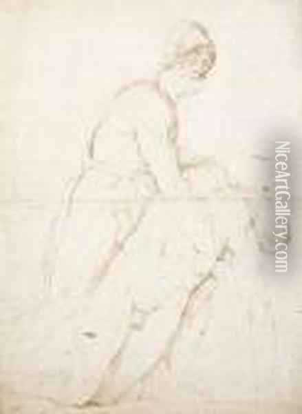 Classical Figure Study Oil Painting - William Blake