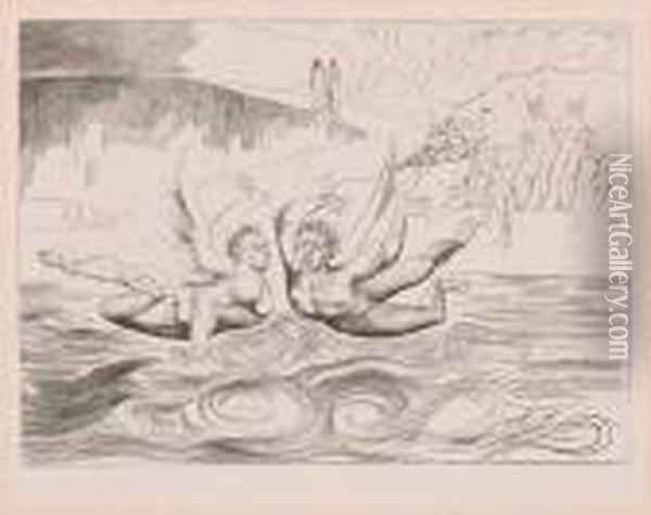 The Circle Of The Corrupt Officials Oil Painting - William Blake