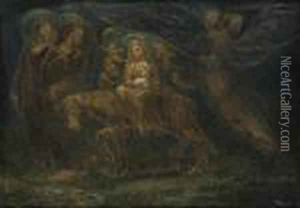 The Flight Into Egypt Oil Painting - William Blake