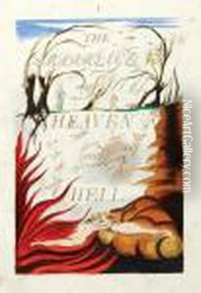 The Marriage Of Heaven And Hell Oil Painting - William Blake