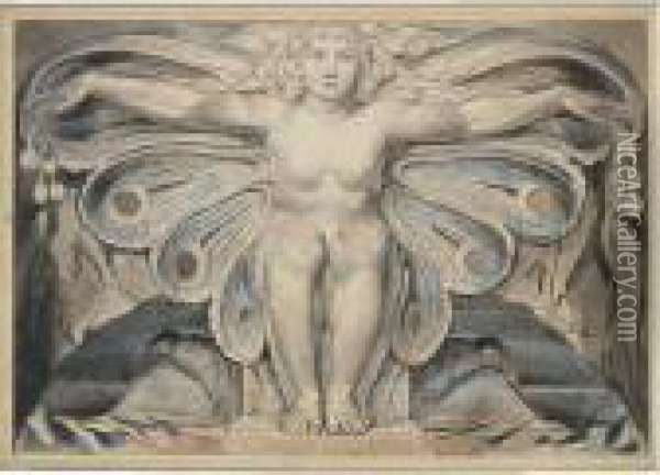 The Grave Personified Oil Painting - William Blake