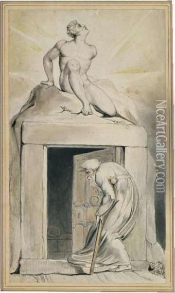 Death's Door Oil Painting - William Blake