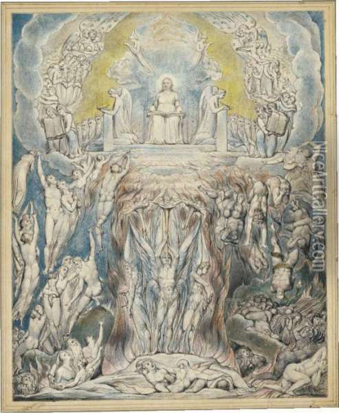 The Day Of Judgment (the Last Judgment) Oil Painting - William Blake