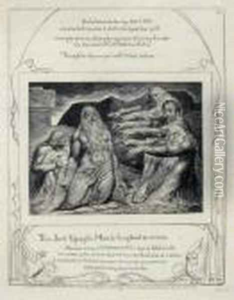 Job Rebuked By His Friends (b. 635) Oil Painting - William Blake