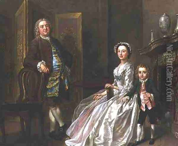 The Bedford Family also known as the Walpole Family Oil Painting - Francis Hayman