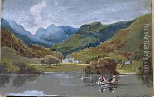 Brathay Hall Oil Painting - John Harden