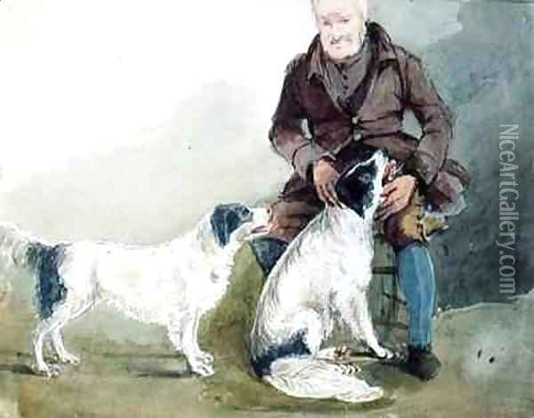 Major Gilpin and his dogs Oil Painting - John Harden