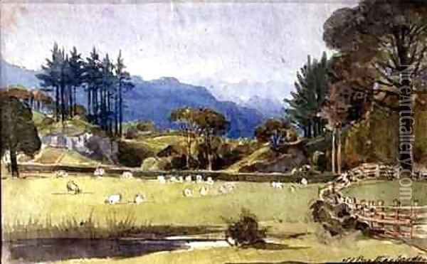 Langdale from the North Shore of Windermere Oil Painting - John Harden