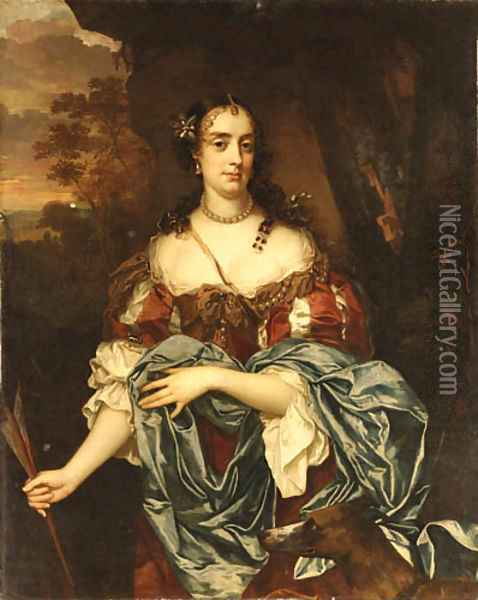 Portrait of a Lady- Queen Catherine of Braganza Oil Painting - Jacob Huysmans