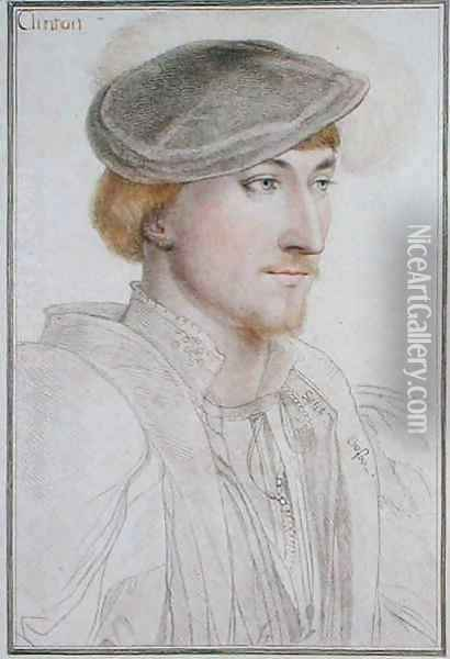 Lord Clinton 1512-85 1st Earl of Llincoln Oil Painting - Hans Holbein the Younger