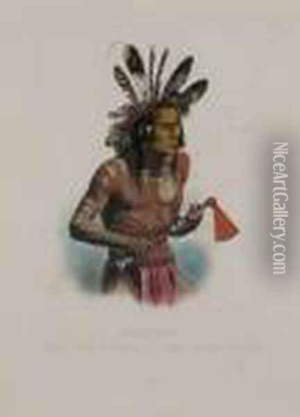 Mato-tope Oil Painting - Karl Bodmer