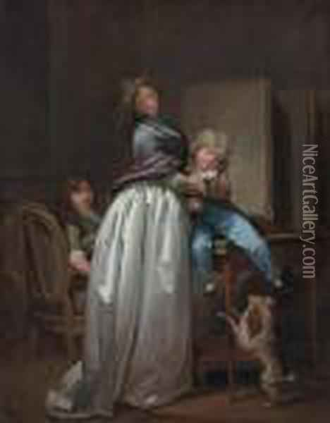 'la Jeune Mere' (the Young Mother) Oil Painting - Louis Leopold Boilly