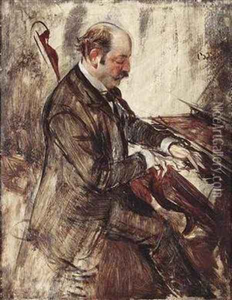 The Pianist Oil Painting - Giovanni Boldini