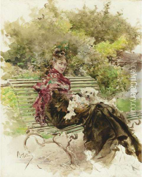 In The Park Oil Painting - Giovanni Boldini