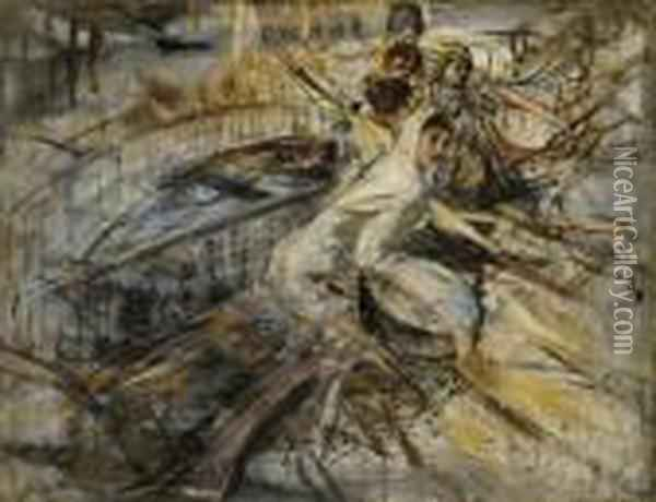 Studio Di Donne A Venezia: Study Of Women, Venice Oil Painting - Giovanni Boldini
