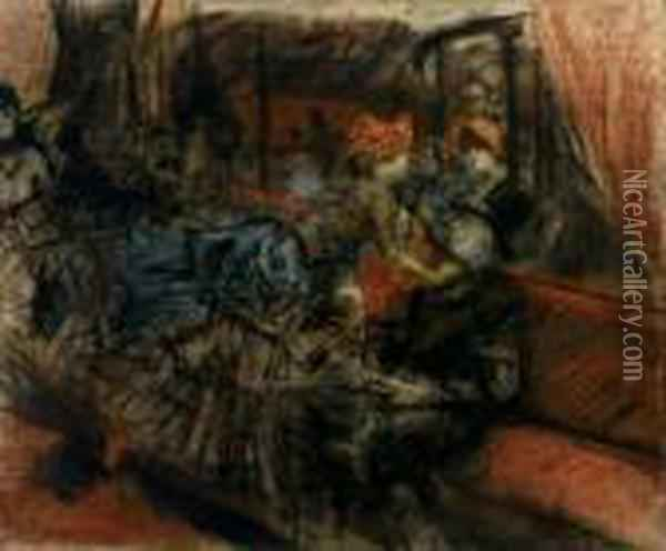 Interno Al Moulin Rouge (the Moulin Rouge) Oil Painting - Giovanni Boldini