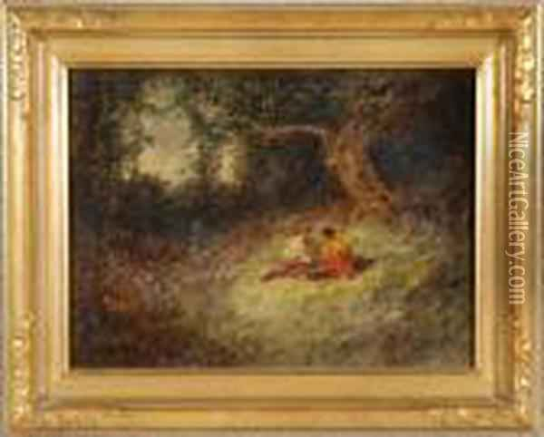 Picnic In The Woods Oil Painting - Rosa Bonheur
