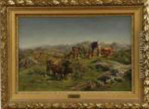Cattle In The Highlands Oil Painting - Rosa Bonheur