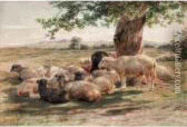 Midday Heat Oil Painting - Rosa Bonheur
