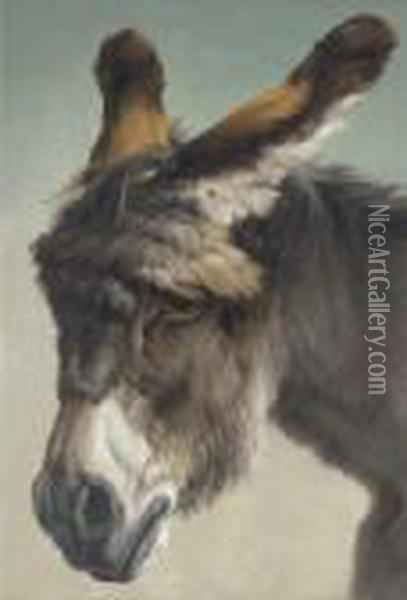 The Forlorn Donkey Oil Painting - Rosa Bonheur
